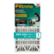 Filtrete 16x25x4, Allergen Reduction Deep Pleat HVAC Air and Furnace Filter, 1200 MPR, 1 Filter