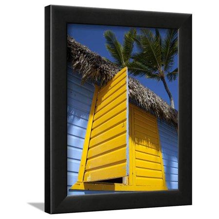 Colourful Hut, Bavaro Beach, Punta Cana, Dominican Republic, West Indies, Caribbean, Central Americ Framed Print Wall Art By Frank Fell Dominican Republic Caribbean Framed