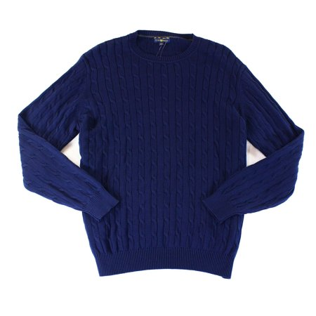 Club Room New Navy Blue Mens Size 3xl Cable Knit Crewneck Sweater