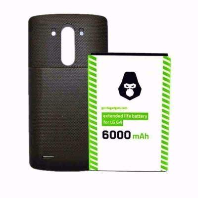 LG G4 Extended Life Battery [6000mAh] Long Lasting Replacement Cell Phone Battery 2X The Power of a Standard LG G3 Battery