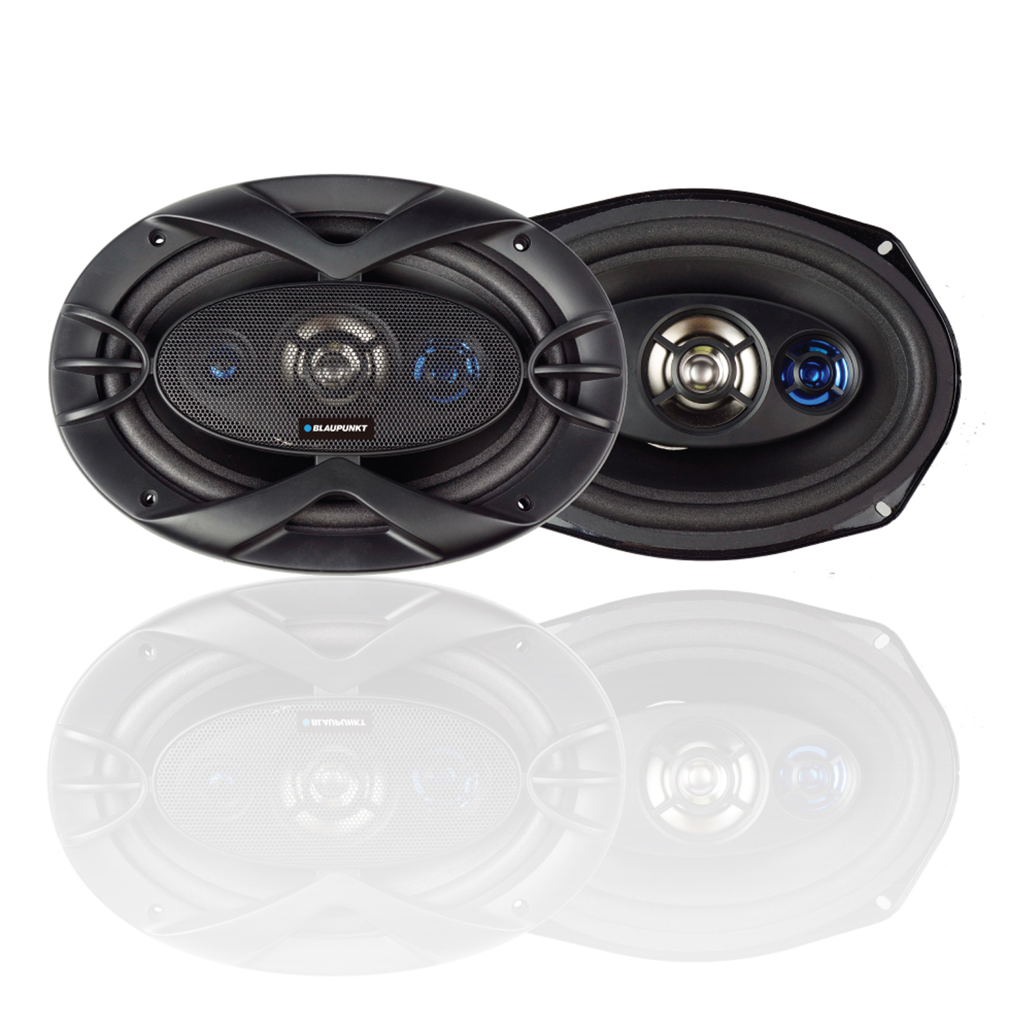 "Blaupunkt 6"" x 9"" 300W Slim Line 4-Way Coaxial Speakers (GTS692M)"