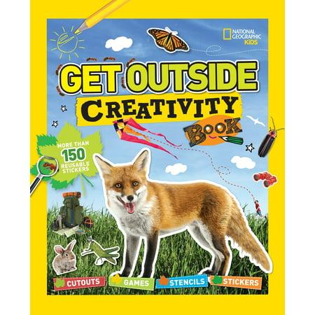 Get Outside Creativity Book : Cutouts, Games, Stencils, Stickers Stencil Activity Book
