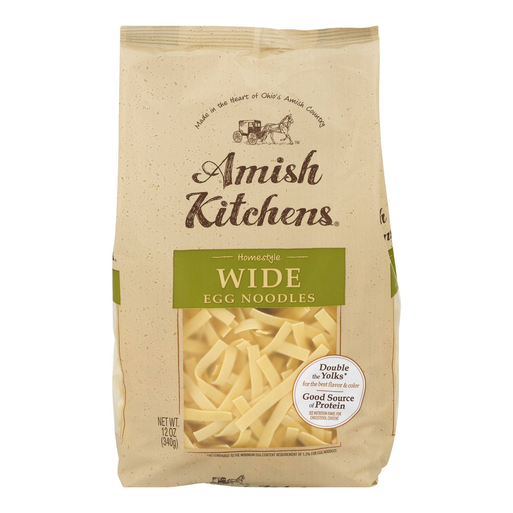 (12 Packs) Amish Kitchens Wide Egg Noodles, 0.75lb - $1.58/bag