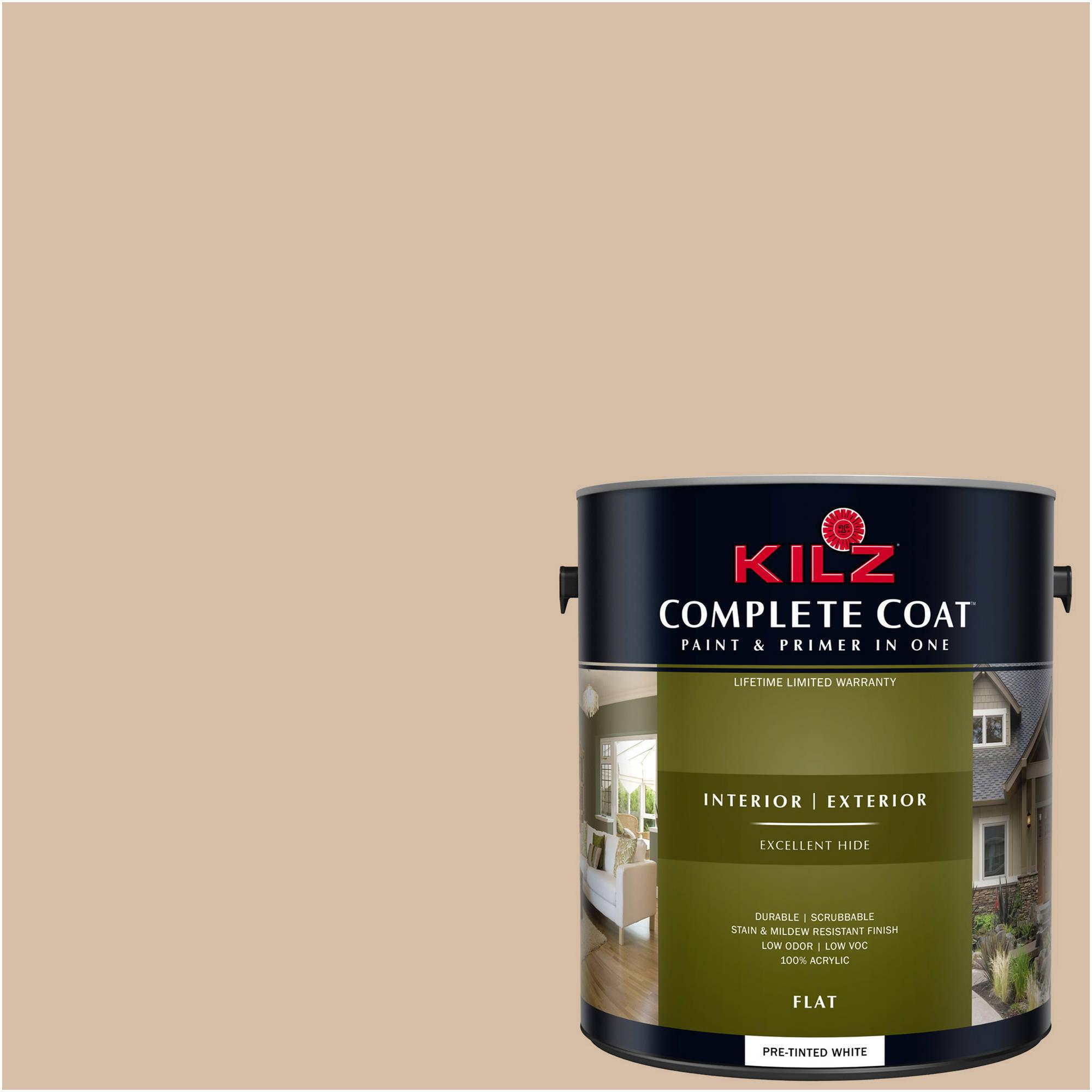 KILZ COMPLETE COAT Interior/Exterior Paint & Primer in One #LK150 Tea With Cream
