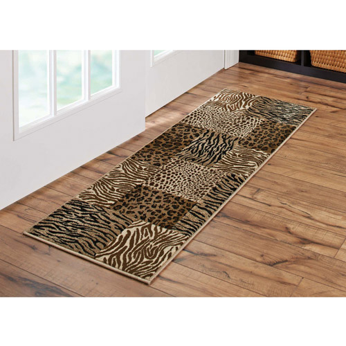 "Better Homes and Gardens Animal Patchwork Runner Rug, 1'8"" x 5'"