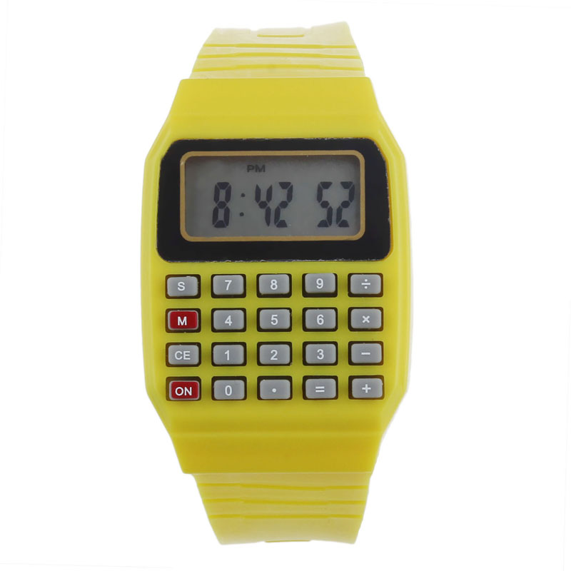 iLH Mallroom Unsex Silicone Multi-Purpose Date Electronic Wrist Calculator Watch YW