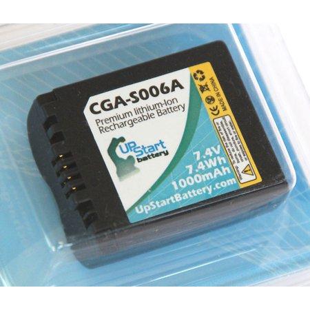 Replacement Panasonic CGA-S006A Battery for Panasonic Lumix DMC-FZ Series DMC-FZ18, DMC-FZ18EB-K, DMC-FZ18EG, DMC-FZ18EG-K, DMC-FZ18EG-S, DMC-FZ18GK Digital Cameras (1000mAh, 7.4V, Lithium-Ion) - image 1 of 2