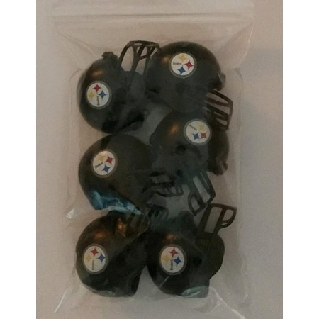 6 Pack Pittsburgh Steelers 2017 Helmet Mini Football 2