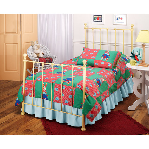 Hillsdale Molly Twin Bed with Bed Frame, Yellow