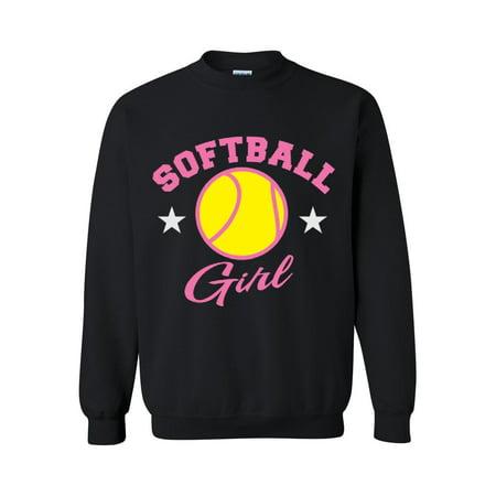 Softball Girl Unisex Crewneck Sweatshirt