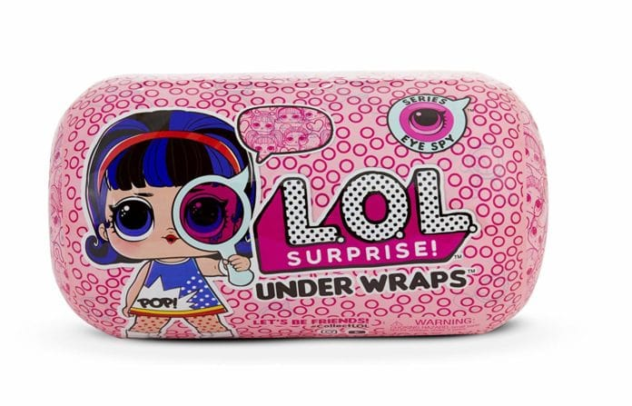 Surprise Series Eye Spy 2A Glass sticker bottle Kids L.O.L Under Wraps Doll