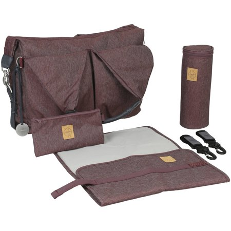 lassig green label neckline diaper bag ecoya burgundy red. Black Bedroom Furniture Sets. Home Design Ideas