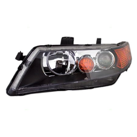 BROCK HID Headlight Headlamp Lens w/ Black Housing Driver Replacement for 04-05 Acura TSX (Headlight Housing Fits Driver)