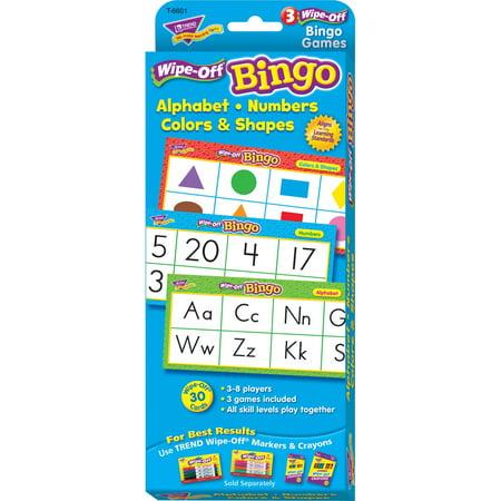 Trend, TEP6601, Wipe-Off Alphabet Shapes Bingo Game, 24 / Each - Halloween Bingo Math
