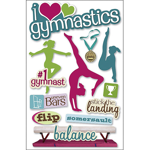 Paper House 3D Stickers, Gymnastics