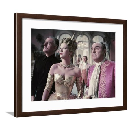 La Main au Collet TO CATCH A THIEF by AlfredHitchcock with John Williams, Grace Kelly and Rene Blan Framed Print Wall