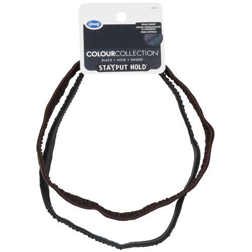 GOODY - Colour Collection Soft Headwrap BLack - 2 Count