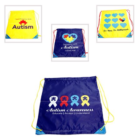 Autism Awareness Drawstring Backpack