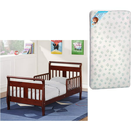 Classic Toddler Bed (Baby Relax Toddler Bed w/Toddler Mattress Value Bundle (Your Choice in Finish) )