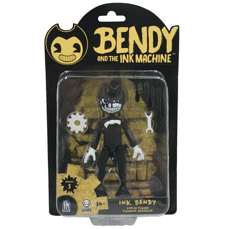 Bendy and the Ink Machine Inky Bendy Action Figure (Toy Machine Angle)