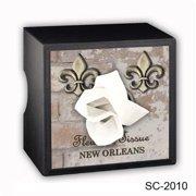Caravelle Designs SC-2010 Fleur de Square Tissue Boxes