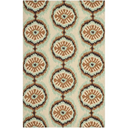 """Safavieh Four Seasons 2'6"""" X 4' Hand Hooked Rug in Beige and Green - image 1 de 1"""