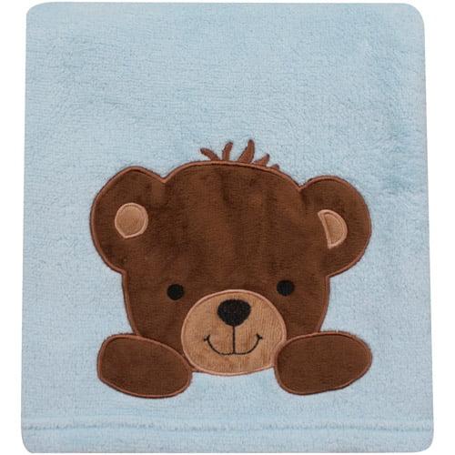 Bedtime Originals by Lambs & Ivy - Honey Bear Crib Blanket, Blue