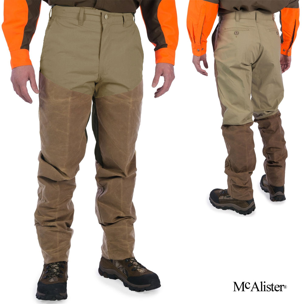 McAlister Waxed-Faced Upland Pants (42)- Tan