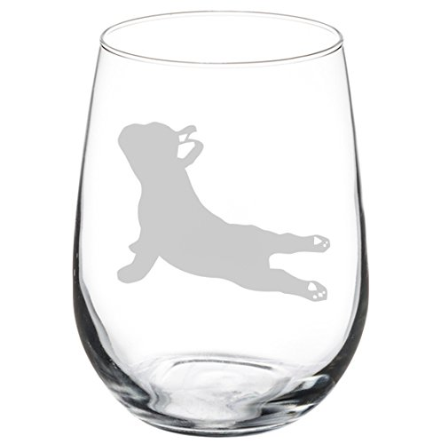 French Bulldog Gifts for Women Frenchie Mom Stemless Wine Glass for Her Cup Idea Large 0129