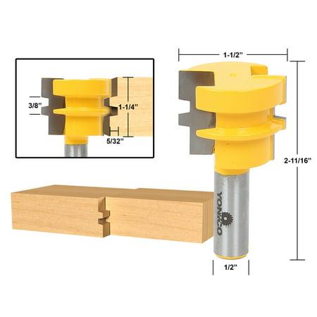 Glue Joint Router Bit - Medium Reversible - 1/2