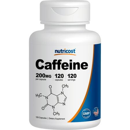 Nutricost Caffeine Pills 200mg 120 Capsules