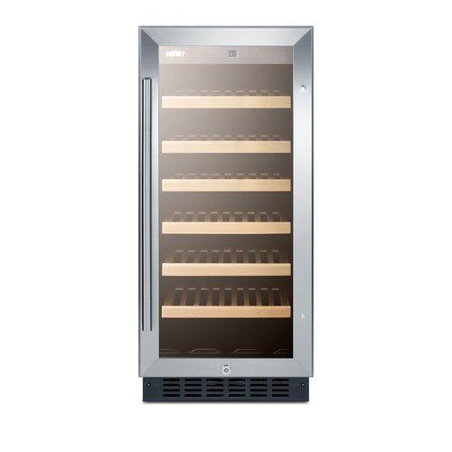 Summit Appliance Summit 15-inch 33 Bottle Single Zone Built-In Wine Cooler