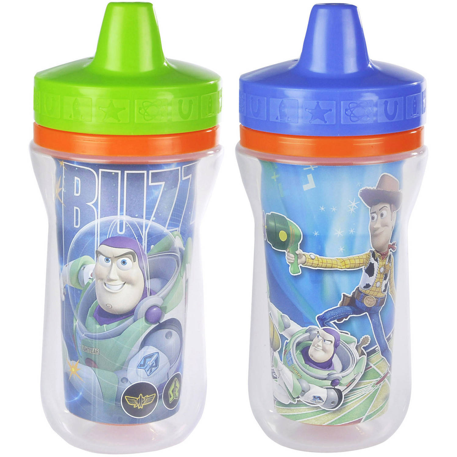The First Years Disney/Pixar Toy Story Insulated Sippy Cup with One Piece Lid, BPA-Free - 9 oz, 2 pack