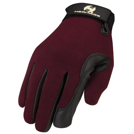 SIZE 06 HERITAGE PERFORMANCE SUPERIOR FIT COMFORT HORSE RIDING GLOVE PLUM