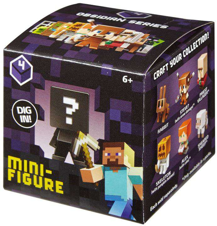 Minecraft Minecraft Obsidian Series 4 Mini Figure Mystery Pack by