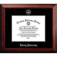 Liberty University 11w x 8.5h Silver Embossed Diploma Frame