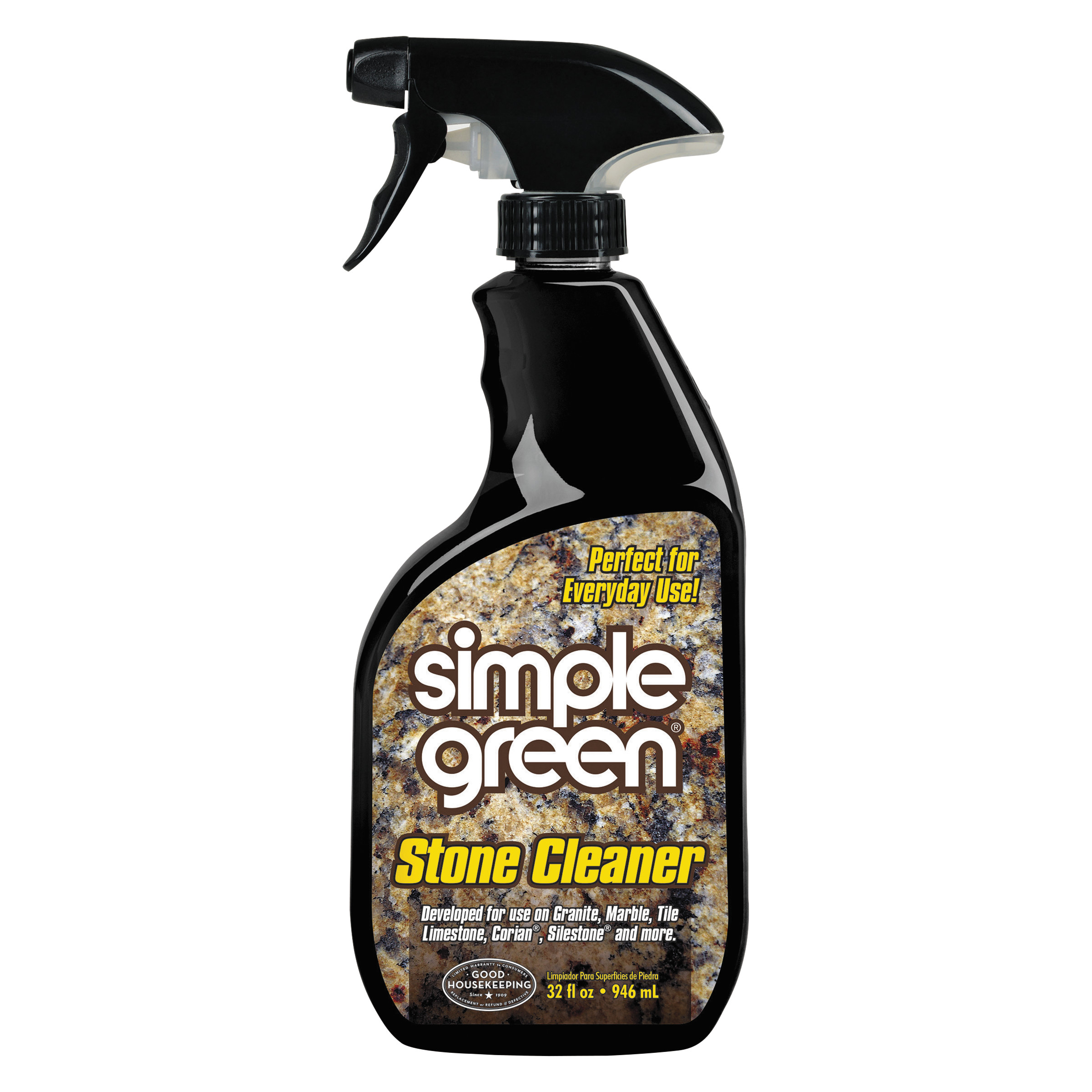 Simple Green Non-Abrasive Stone Cleaner, Unscented, 32oz Bottle