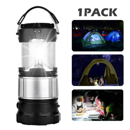 - EEEKit Solar Camping Lantern, 2-in-1 Rechargeable Handheld Flashlights, 1000 LM Collapsible 6 LED Lantern Camping Gear Equipment for Outdoor Hiking, Camping Supplies, Emergencies, Hurricanes, Outages