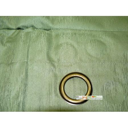 1 Pair/2 Panels Striated Textured Animal Skin Pattern Metal Grommet Blackout Curtian Sage Green
