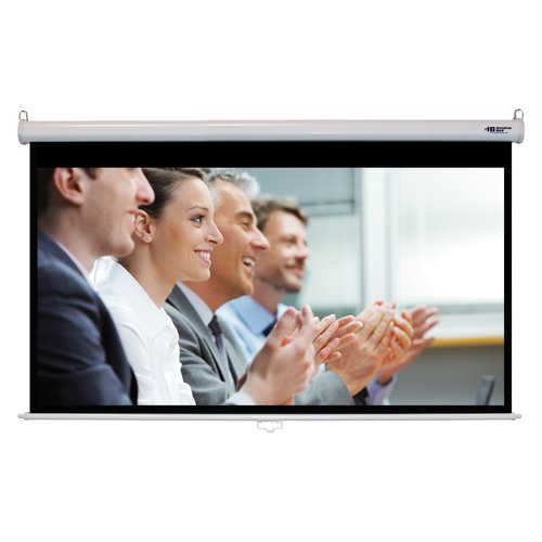Hamilton Buhl Matte White 92'' Diagonal Manual Projection Screen