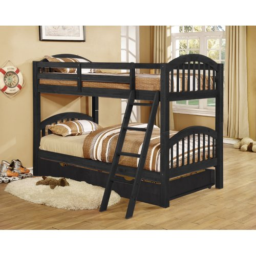 Harriet Bee Auerbach Twin over Twin Bunk Bed with Trundle/Drawers Convertible