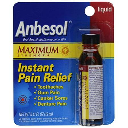 Anbesol Liquid Maximum Strength 0.41oz Each