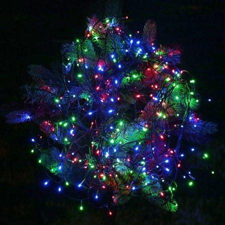 Lixada Rgb 200 Led Christmas String Light Outdoor Decoration