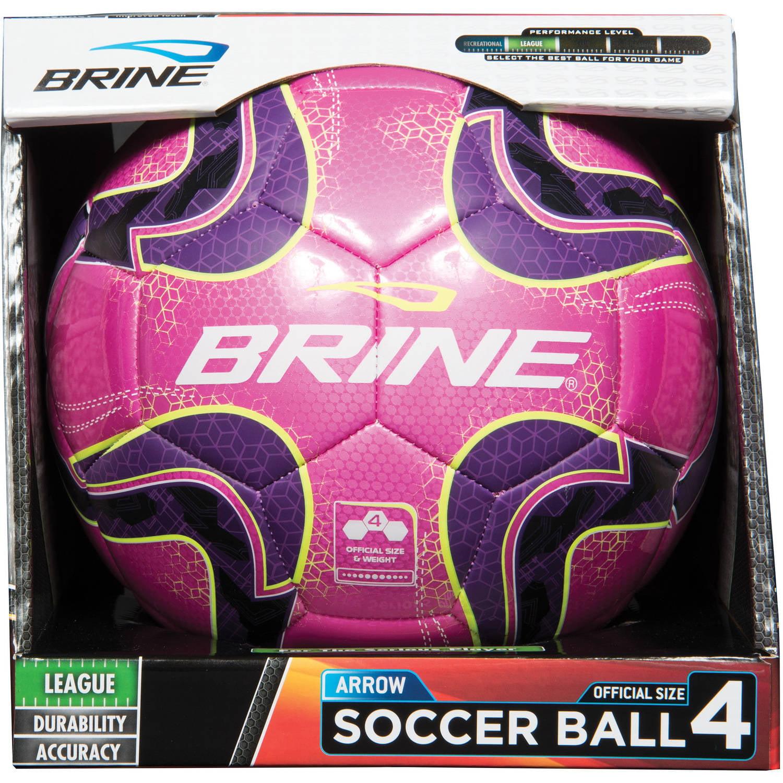Brine Arrow Soccer Ball, Pink, Size 4