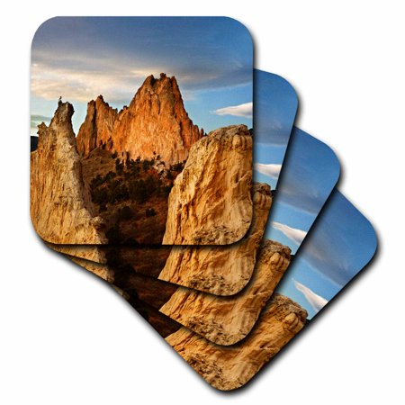 3dRose CO, Colorado Springs, Garden of the Gods sandstone - US06 BJA0218 - Jaynes Gallery, Soft Coasters, set of 4 Gallery Wine Coaster