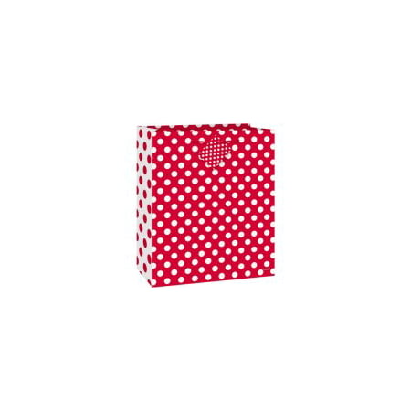 (3 Pack) Medium Red Polka Dot Gift Bag