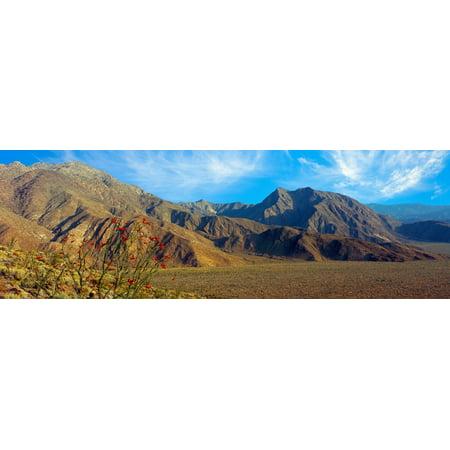 Mountains in Anza Borrego Desert State Park Borrego Springs California USA Canvas Art - Panoramic Images (27 x 9) Anza Borrego Desert State Park