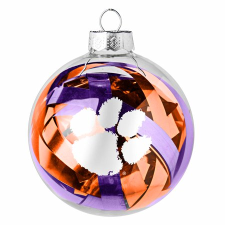 Clemson Tigers Large Tinsel Ball Ornament - No Size ()