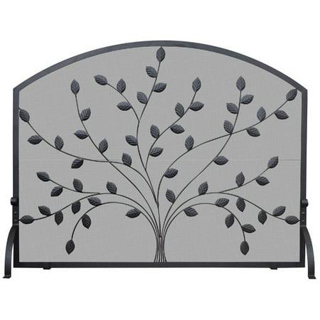 Uniflame Corporation Single Panel Wrought Iron Fireplace - Forged Iron Single Panel Screen