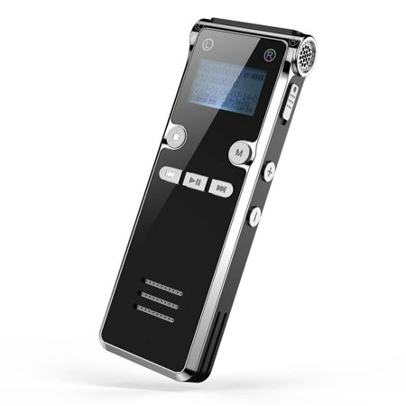 Digital Voice Activated Recorder - Easy HD Recording Of Lectures And Meetings With Double Microphone, Noise Reduction Audio, High Quality Sound, Portable Mini Tape Dictaphone, MP3, USB, 8GB